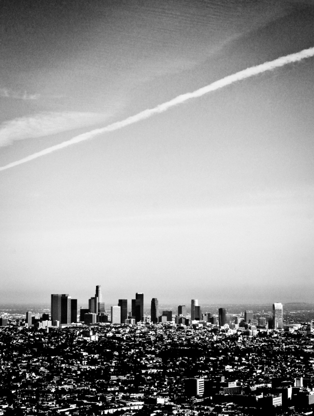The view from Griffith Observatory....